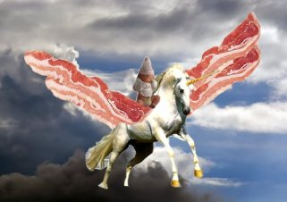 Unicorn bacon.