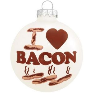 I <3 Bacon Ball Ornament from bronners.com